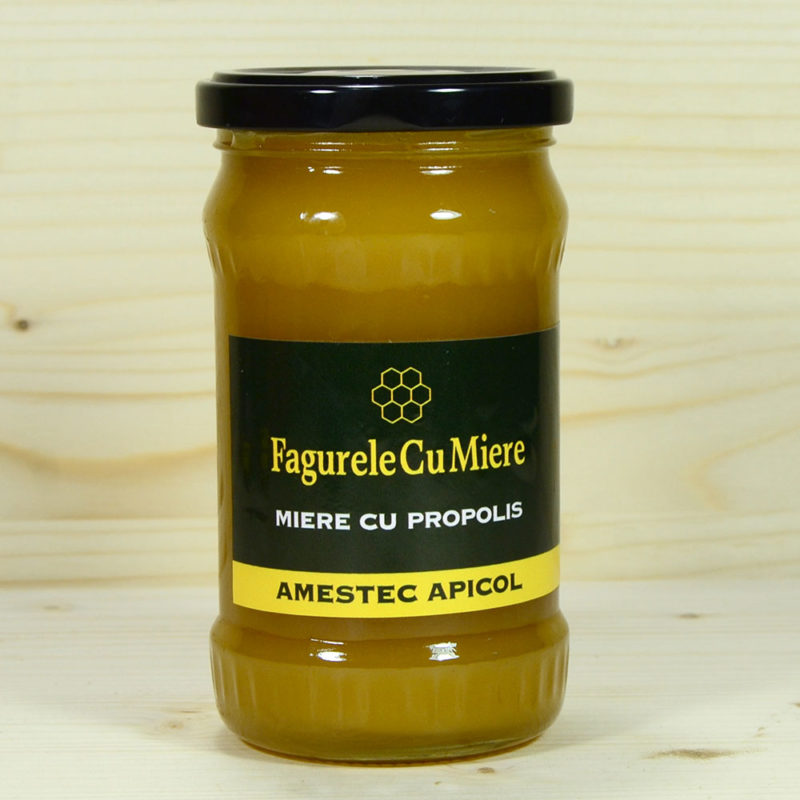 Amestec apicol ce contine miere si propolis.